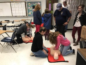 HCMS Hands Only CPR training