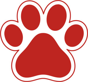 red-paw-print