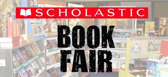 This is an image that says Book Fair and is a link to the online book fair sales page.