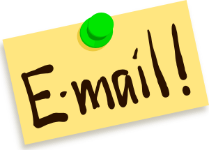 This is a clipart image that says ``Email``